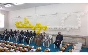توزیع 414 بسته معیشتی و فرهنگی بین دانش آموزان نیازمند شهرستان بیرجند