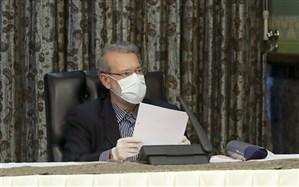 تصویر/ آخرین حضور علی لاریجانی در جلسه سران قوا