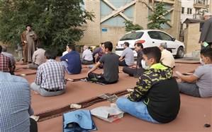 حضوردانش آموزان منطقه یک در نماز عیدفطر با رعایت پروتکل بهداشتی