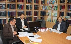 جلسه ویدئو کنفرانس معاون آموزش متوسطه با روسای مناطق و نواحی 14 گانه استان برگزار شد