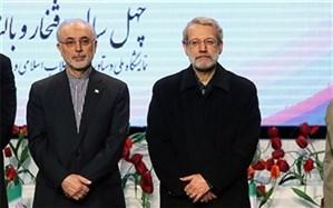 قدردانی رئیس سازمان انرژی اتمی از تلاشهای علی لاریجانی
