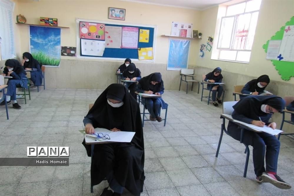 حضور دانش آموزان پایه نهم در امتحانات خردادماه