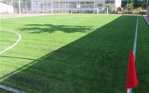 افتتاح چمن مصنوعی زمین فوتبال در هنرستان شهید چمران ناحیه 2 رشت