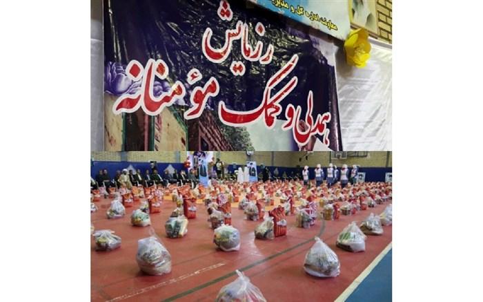 توزیع 600 بسته غذایی در رزمایش کمک مومنانه شهرستان طبس