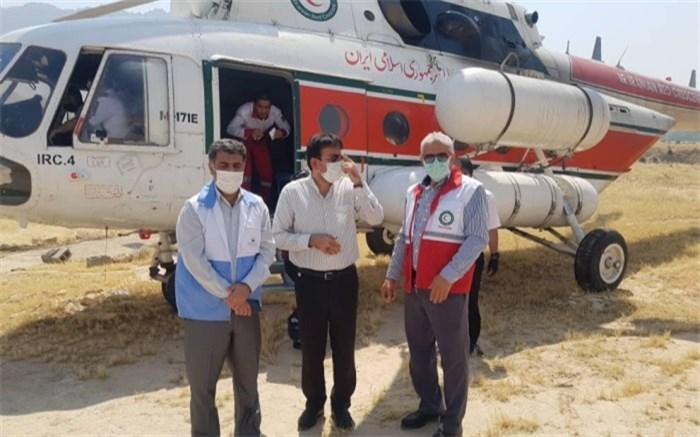 اقدامات اداره کل مدیریت بحران برای اطفا حریق در مناطق کوهستانی شهرستان تنگستان