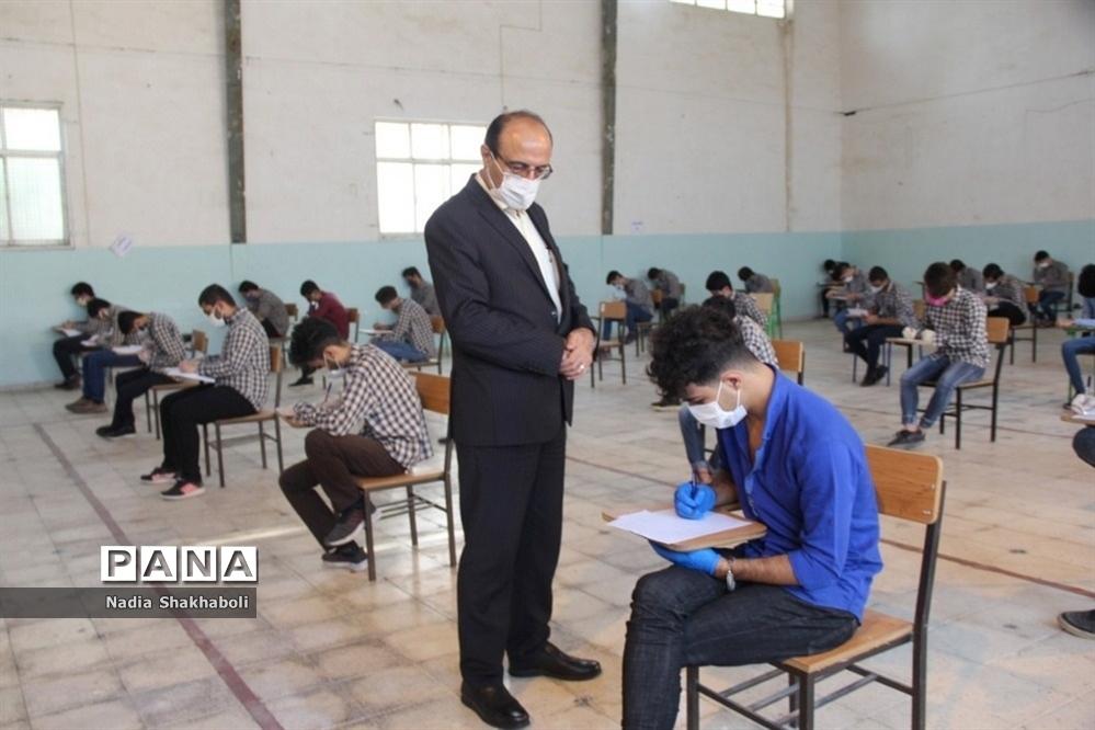 بازدید مدیرکل آموزش و پرورش استان بوشهر از حوزههای امتحانی