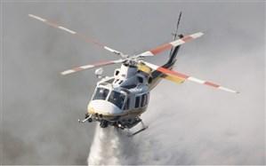 اعزام بالگردهای هوانیروز ارتش و سپاه برای اطفای حریق جنگلهای بوشهر و خوزستان