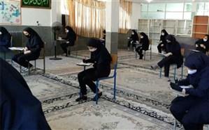 برگزاری امتحانات حضوری نوبت دوم دانش آموزان پایه نهم در ناحیه دو ری