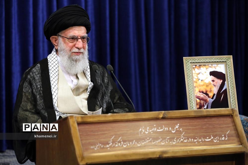 سخنرانی تلویزیونی رهبر انقلاب اسلامی به مناسبت سی و یکمین سالگرد رحلت امام خمینی (رحمهالله)