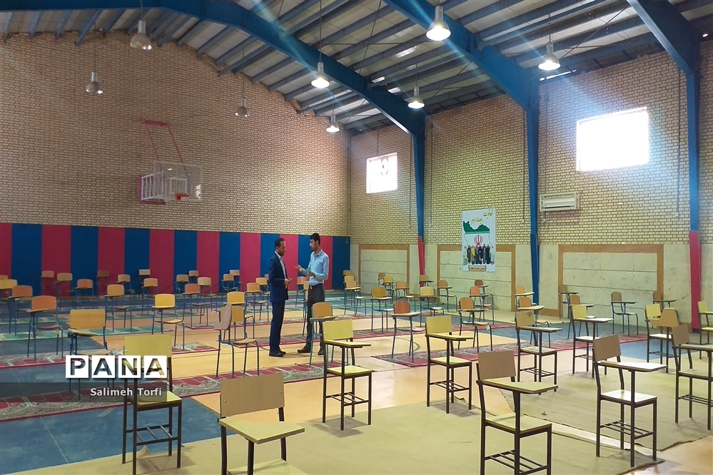 بازدید ازحوزههای امتحانی جهت آماده سازی و برگزاری امتحانات نهایی دوازدهم درشهرستان حمیدیه
