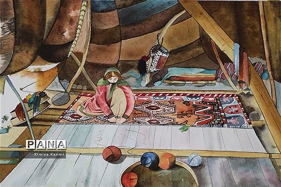 نمایشگاه مجازی نقاشی دانشآموزان برتر استان فارس