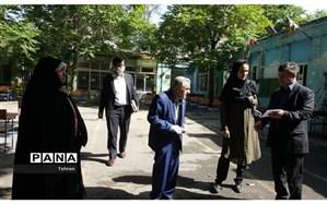 بازدیدمدیرعامل مجمع خیرین شهرتهران از مجتمع آموزشی ایران منطقه۳