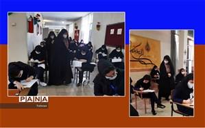 بازدید مدیر آموزش و پرورش منطقه 8 تهران از حوزه های امتحانات نهایی