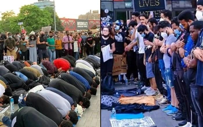 برپایی نماز وحدت در خیابانهای ملتهب آمریکا + ویدئو