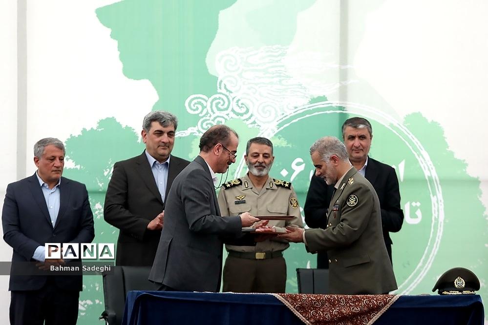 آیین آغاز عملیات احداث بوستان ارتش و تبدیل پادگان ۰۶ به فضای سبز