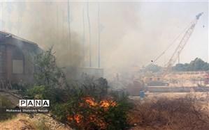 آتش سوزی فضای سبز در نزدیکی زندان اوین