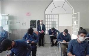 بازدید معاون پژوهش شهر تهران از حوزه امتحان نهایی منطقه۱۵