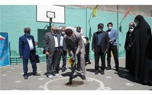 """آیین احداث مدرسه خیری به همت خیر نیک اندیش """"علی محمد اسماعیلی"""" در منطقه8"""