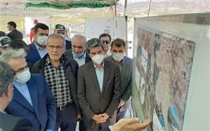 """رییس سازمان برنامه و بودجه از سد """"کانیسیب"""" پیرانشهر بازدید کرد"""