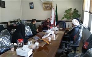 نشست مدیر آموزش و پرورش منطقه 17 با تولیت حوزه علمیه سفیران حضرت ابوطالب