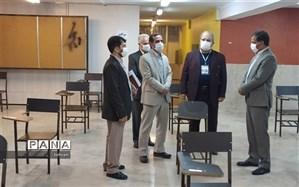 بازدید معاونین مرکز سنجش وزارت آموزش و پرورش از حوزه های امتحانات منطقه 11