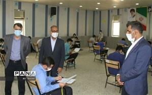 بازدید فرماندار شهرستان بندرعباس از حوزه های امتحان نهایی ناحیه یک