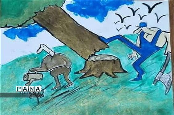 فراخوان نقاشی با( محوریت محیط زیست) در شهرستان امیدیه
