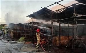 آتشسوزی در بازار گل امام رضا؛ 32 غرفه طعمه حریق شد