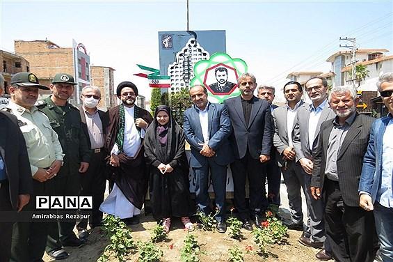 افتتاح بلوار شهید مدافع حرم خانزاده در  محمودآباد