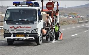 اتمام عملیات خط کشی محور  رامشار - شهر سوخته