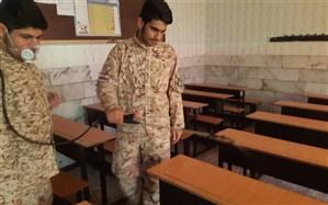 ضدعفونی واحدهای برگزار کننده امتحانات نهایی در شهر قدس