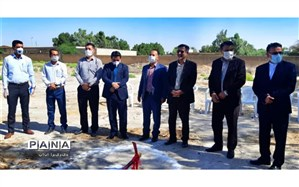 کلنگ زنی دو آموزشگاه جدید خیرساز در شهرستان امیدیه