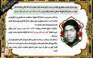 نماینده ولی فقیه در استان و استاندار زنجان درگذشت مادر شهید ملکی پرچینی را تسلیت گفتند