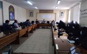 جلسه توجیهی لباس فرم دانش آموزان مدیران مدارس شهرستان خرمدره تشکیل شد