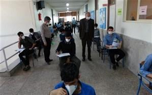 بازدید محسنی نسب از حوزه امتحان نهائی منطقه9