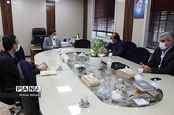 نشست معاونان آموزش و پرورش، پردیس دانشگاه فرهنگیان و  اداره استثنایی آموزش و پرورش بوشهر