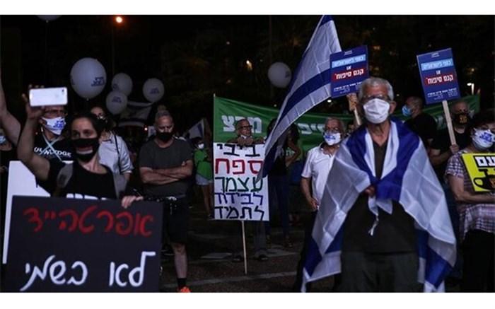 تظاهرات در تلآویو علیه طرح الحاق کرانه باختری به اسرائیل
