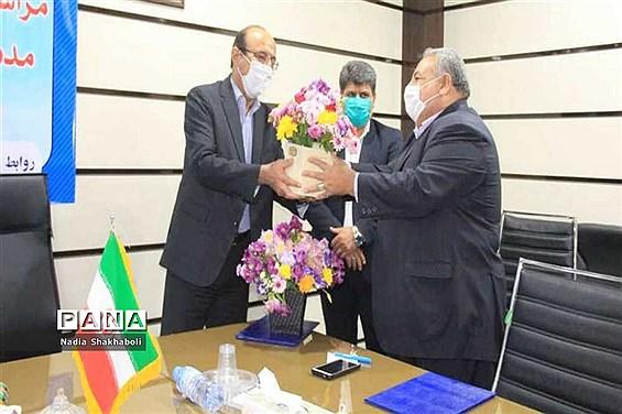 مراسم تکریم و معارفه مدیر آموزش و پرورش شهرستان بوشهر
