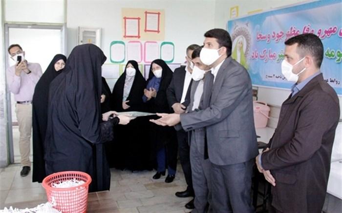تجلیل از دختران جهادگر