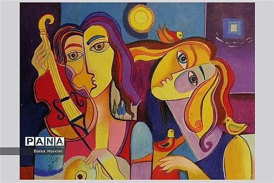 نمایشگاه مجازی آثار هنری دانشآموزان دبیرستان علوی شیراز