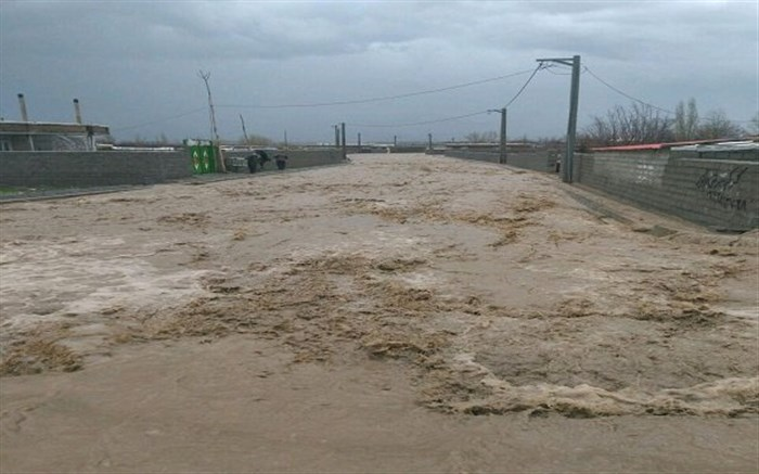 دو خودرو در نیکشهر طعمه سیلاب شدند