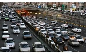 ترافیک سنگین صبحگاهی در ۱۶ معبر اصلی شهر تهران