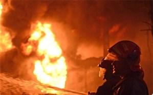 آتش سوزی در واحد تولید یونولیت عجب شیر