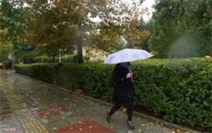 بارش پراکنده باران در ۹ استان کشور