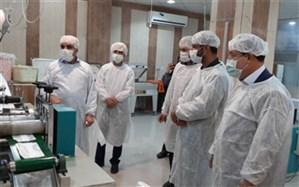 بهرهبرداری از اولین کارگاه تولید ماسک سه لایه جراحی استان بوشهر در جم
