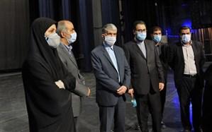 بازدید وزیر فرهنگ و ارشاد اسلامی از بخش فنی تالار وحدت