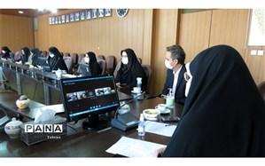 جلسه ویدئو کنفرانس ساماندهی نیروهای انسانی و پروژه مهر منطقه 8 با حضور مدیر کل شهر تهران