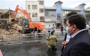 تخریب پاساژ تجاری ناایمن در تهران