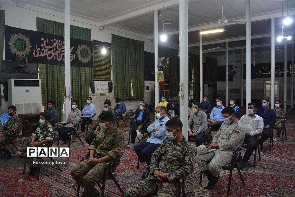 جلسه تعامل با کلانتری ۱۲  میدان امام در مسجد امام حسین( ع)