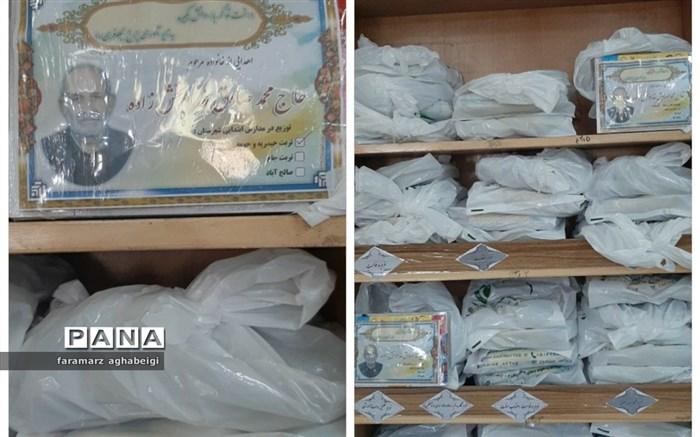 اهدای 300 بسته لوازم التحریر به دانش آموزان نیازمند توسط یک فرهنگی در تربت حیدریه